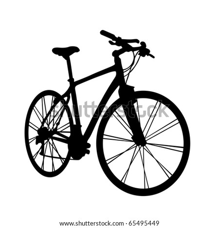 bike in perspective vector illustration