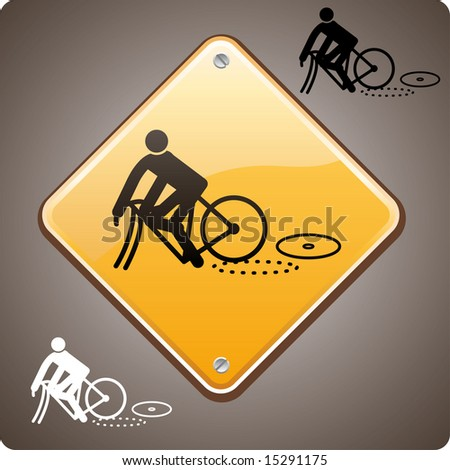 bike incident warning road sign
