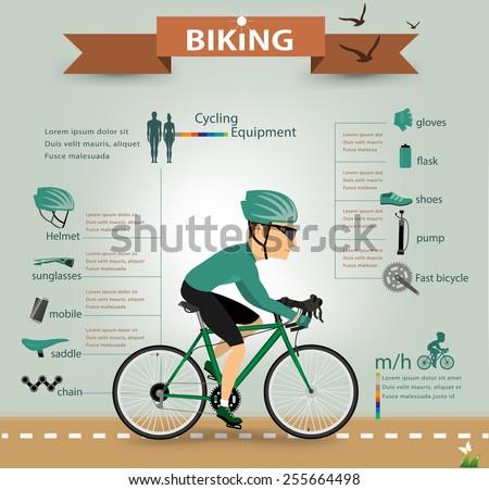 bike infographicsvector