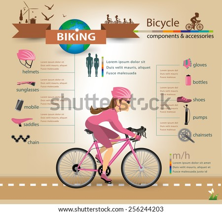 bike infographicsvector