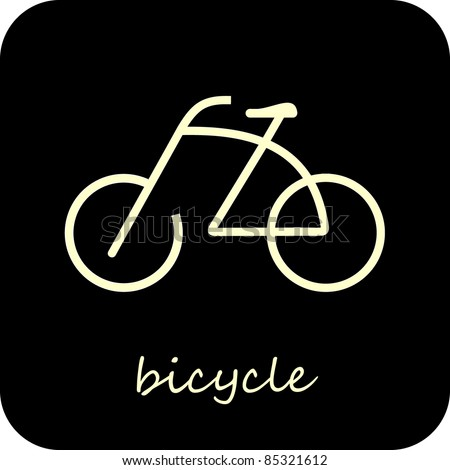 bike   isolated vector icon on