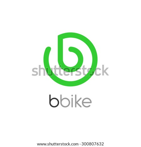 bike logo design  letter b logo