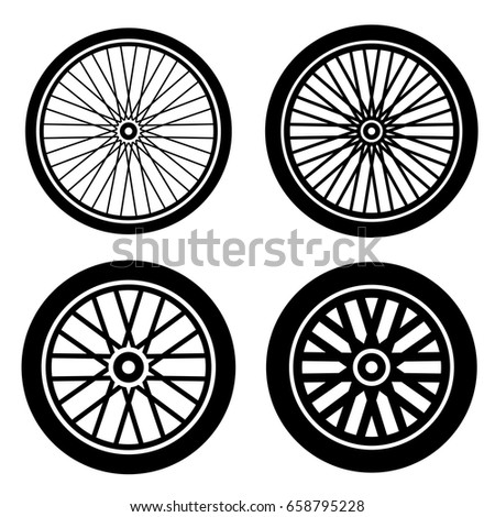bike motorbike wheels black