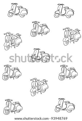 bike motorcycle motor scooter two wheels