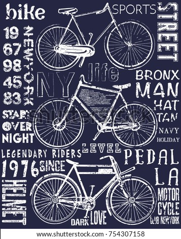 bike poster tee graphic design