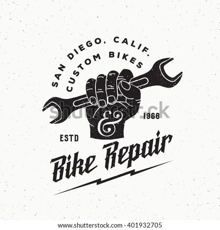 bike repair abstract vintage...