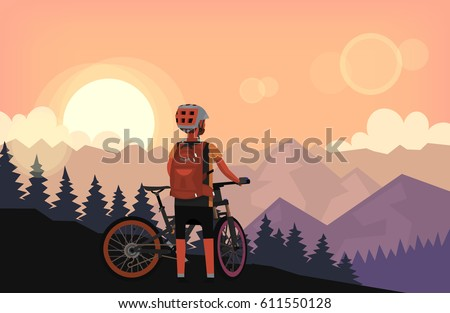 bike rider on top of the