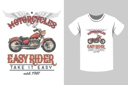Bike rider t shirt design with bike, wing, feather, Skull.