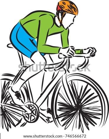 bike rider vector illustration