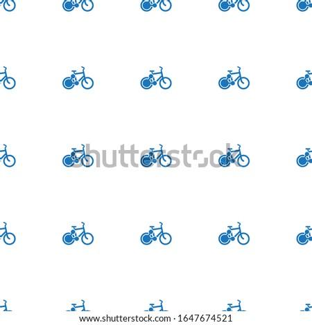 bike sharing icon pattern seamless isolated on white background. Editable filled bike sharing icon. bike sharing icon pattern for web and mobile.