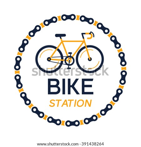 bike station vector with the
