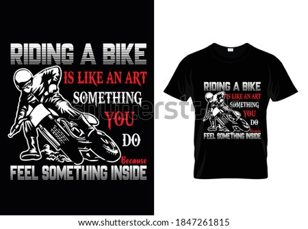 bike t shirt with message
