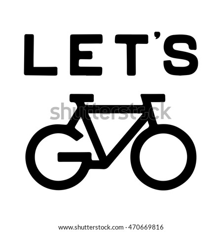 bike vector icon with the word