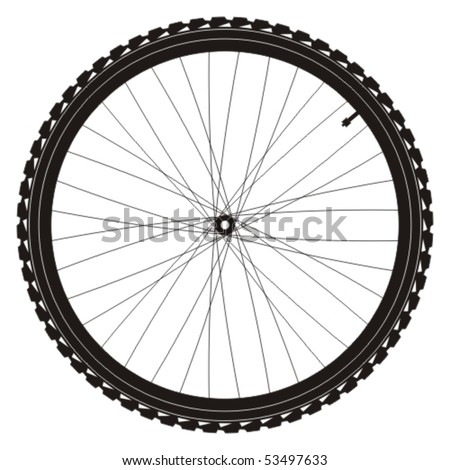 Bike wheel vector illustration on white background