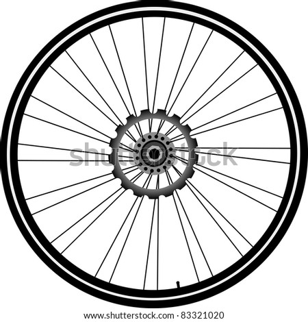 bike wheel with tire and spokes isolated on white background. vector. bike wheel Icon. bicycle wheel Icon Vector. bike wheel Icon logo. bike wheel Icon Sign. bicycle wheel Icon Flat. bike wheel Icon