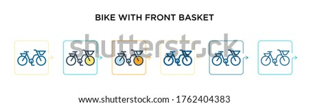 bike with front basket vector