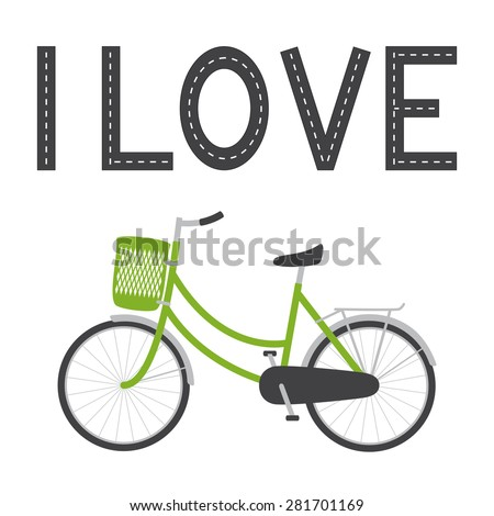 bike with green colored female
