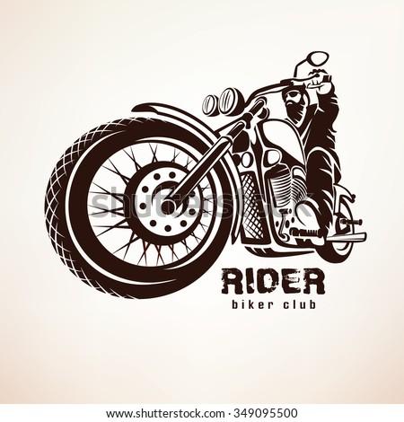 biker  motorcycle grunge vector