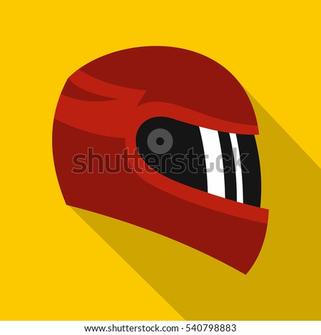 biker sport race helmet icon. Flat illustration of biker sport race helmet vector icon for any web design