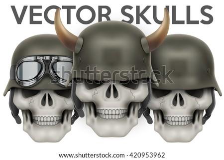 biker symbols of human skulls