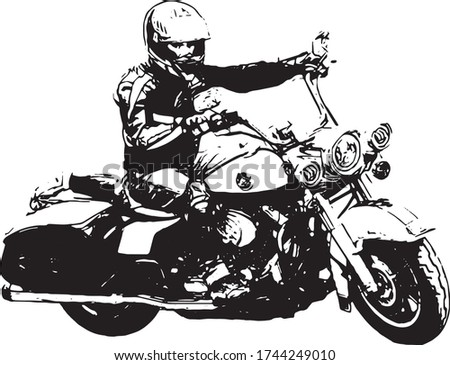 bikers driving a motorcycle