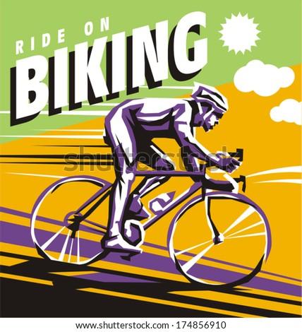 biking illustration