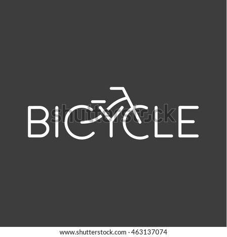 Biking, linear, stylish logo vector illustration of a high quality and modern Bicycle