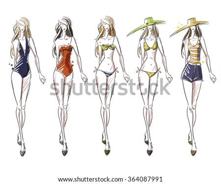 bikini catwalk