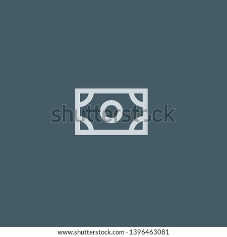 Bill vector icon. Bill concept stroke symbol design. Thin graphic elements vector illustration, outline pattern for your web site design, logo, UI. EPS 10.