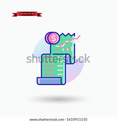Bill vector icon illustration. Bill icon design template. Vector EPS 10
