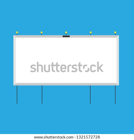 Billboard advertisement blank city vector. Banner advertise display light street. Ad flat urban outside signage panel placard