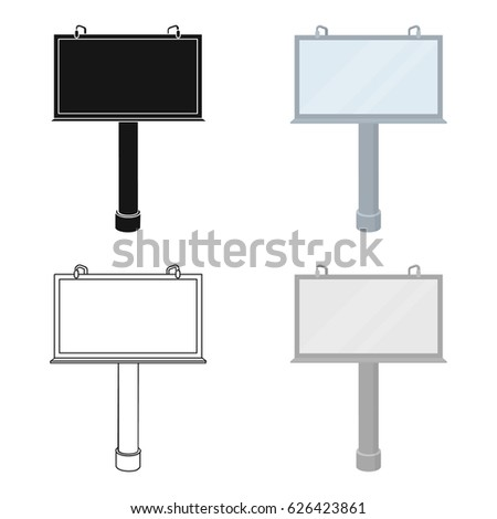 Billboard icon in cartoon style isolated on white background. Advertising symbol stock vector illustration. #626423861