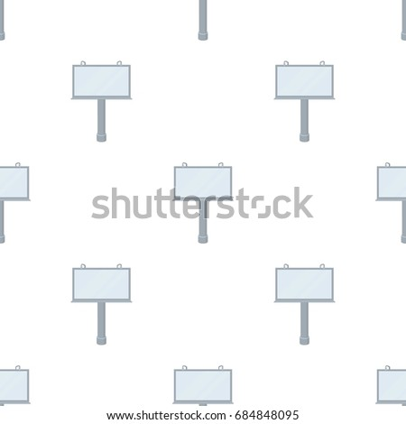 Billboard icon in cartoon style isolated on white background. Advertising symbol stock vector illustration. #684848095