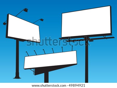 Billboard set vector - stock vector