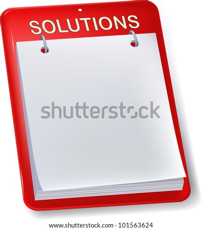 Billboard. Solutions empty sheet. Isolated.