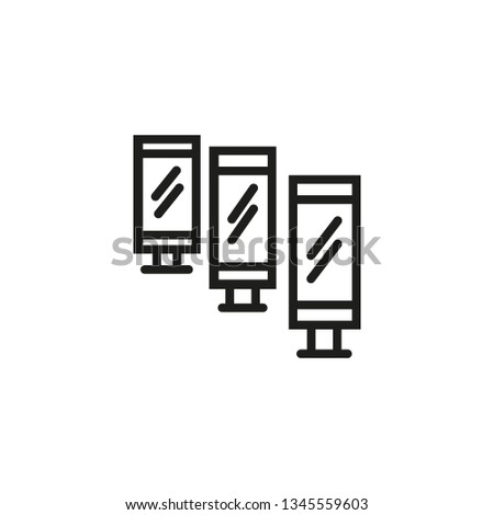 Billboards line icon. Mirrors, scrollers, street lightboxes. Special event concept. Vector illustration can be used for topics like advertising, promotion, business