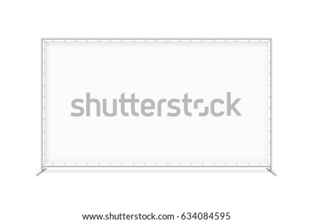 Shutterstock Billet press wall with blank banner, mobile trade show booth vector illustration
