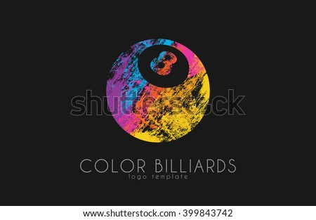 billiard ball logo billiard