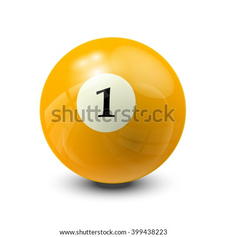 billiard ball 1  realistic