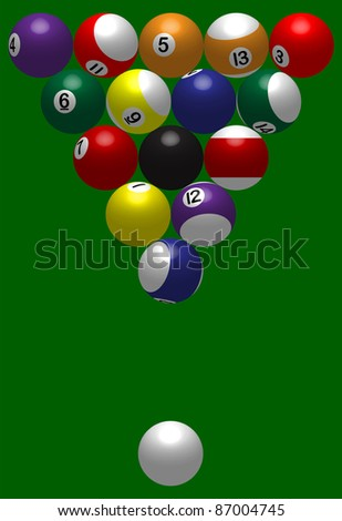 billiard ball triangle - stock vector