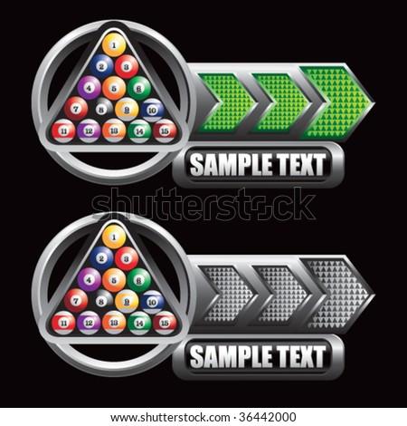 billiard balls on arrow templates