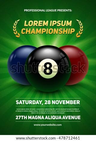 billiard challenge poster 3d