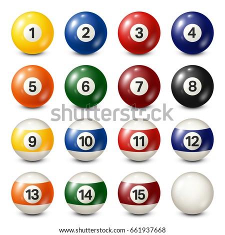 billiard pool balls collection