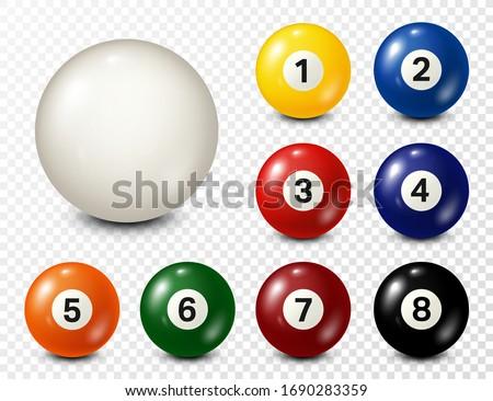 billiard  pool balls with