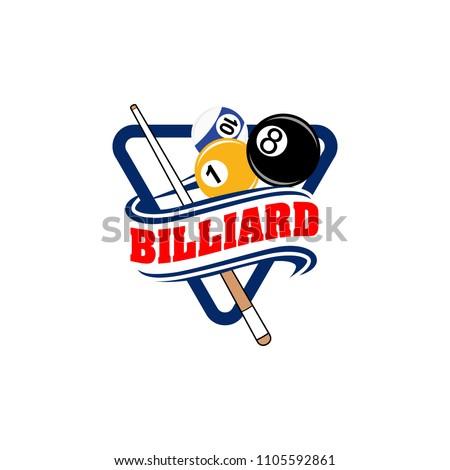 billiards badges design logos