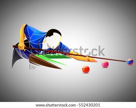 billiards styled athlete
