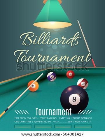 billiards tournament flyer