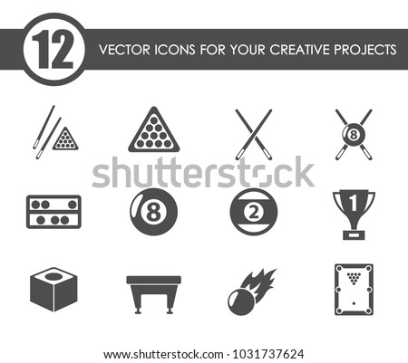 billiards vector icons for your