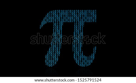 Binary code abstraction vector illustration. Pi symbol vector
