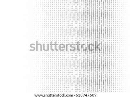 binary code black and white